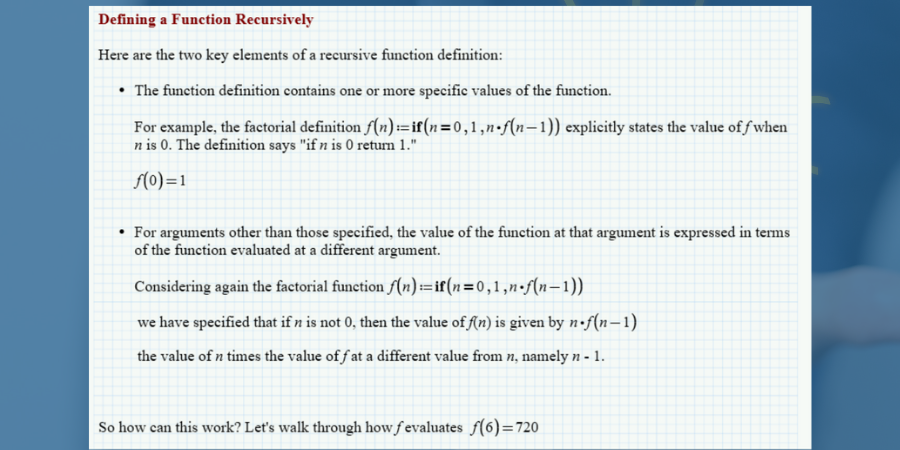 Defining a function recursively