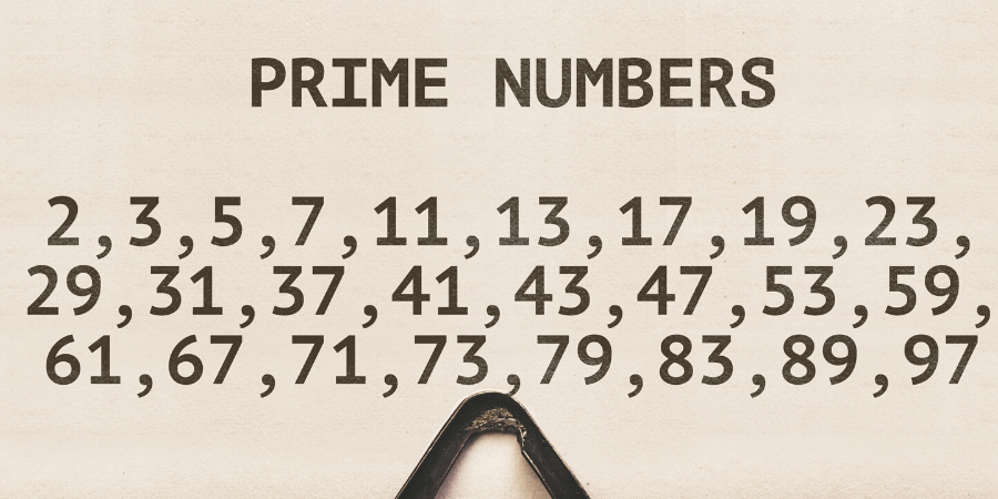 Prime numbers on vintage typewriter.