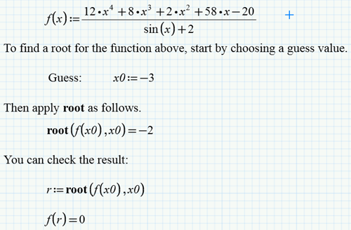My Three Favorite Worksheets – Root Finding in Mathcad | Mathcad
